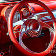 1957 Chevrolet Bel Air Steering Wheel Poster