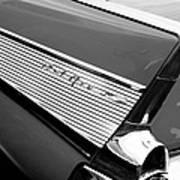 1957 Chevrolet Belair Convertible Taillight Emblem Poster