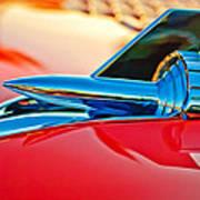 1957 Chevrolet Belair Hood Ornament Poster by Jill Reger