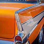 1957 Chevrolet Belair Taillight Emblem -019c Poster