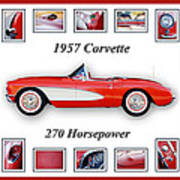 1957 Chevrolet Corvette Art Poster