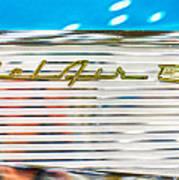 1957 Chevy Bel Air Emblem Poster