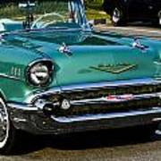 1957 Chevy Bel Air Green Front End Poster
