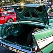 1957 Chevy Bel Air Green Rear Trunk Open Poster