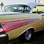 1957 Chevy Bel Air Yellow Side View  Poster