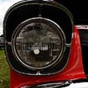 Old Car Headlight Poster