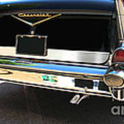 1957 Chevy Rear View Car Art Poster