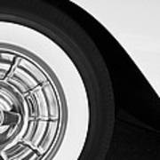 1957 Corvette Wheel Poster by Jill Reger