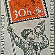 1957 Czechoslovakia Stamp Poster