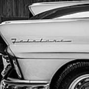 1957 Ford Fairlane Emblem -359bw Poster