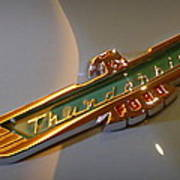 1957 Ford Thunderbird Emblem Poster