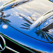 1957 Mercedes-benz 300sl Grille Emblem -0167c Poster