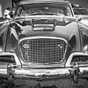 1957 Studebaker Golden Hawk Bw Poster