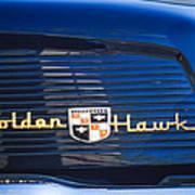 1957 Studebaker Golden Hawk Supercharged Sports Coupe Emblem Poster