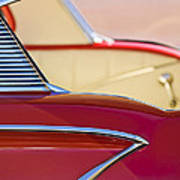 1958 Chevrolet Belair Abstract Poster