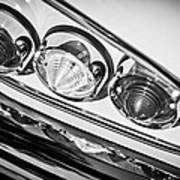 1958 Chevrolet Impala Taillight -0289bw Poster