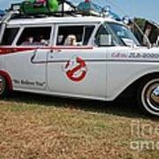 1958 Ford Suburban Ghostbusters Car Poster