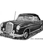 1958 Mercedes Benz 220s Poster