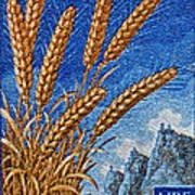 1958 San Marino Stamp Poster