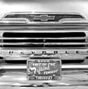1959 Chevrolet Apache Bw 012315 Poster
