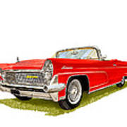 1959 Continental Convertible Poster