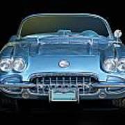 1959 Corvette Front View Poster