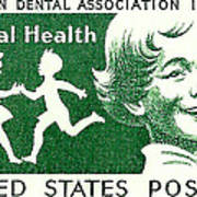 1959 Dental Health Postage Stamp Poster