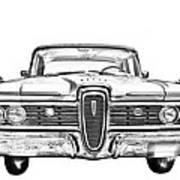 1959 Edsel Ford Ranger Illustration Poster