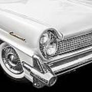 1959 Lincoln Continental Chrome Poster