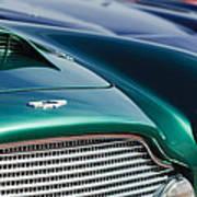 1960 Aston Martin Db4 Series II Grille - Hood Emblem Poster by Jill Reger