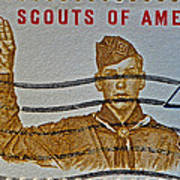 1960 Boy Scouts Stamp Poster
