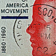 1960 Boys' Clubs Of America Movement Stamp Poster