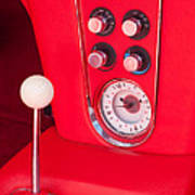 1960 Chevrolet Corvette Control Panel Poster