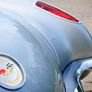 1960 Chevrolet Corvette Emblem - Taillight Poster by Jill Reger
