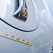 1960 Porsche 356 B 1600 Super Roadster Hood Emblem Poster