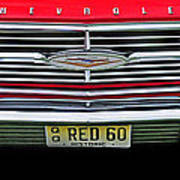 1960 Red Chevy Poster