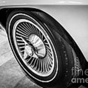 1960's Chevrolet Corvette C2 Spinner Wheel Poster by Paul Velgos