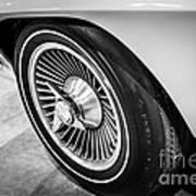 1960's Chevrolet Corvette C2 Spinner Wheel Poster