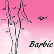 1961 Barbie Doll Patent Art 2 Poster