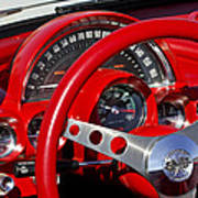 1961 Chevrolet Corvette Steering Wheel 2 Poster