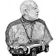 Sir Stirling Moss 1961 Ferrari G T 250 Poster