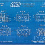 1961 Lego Building Blocks Patent Art 1 Poster