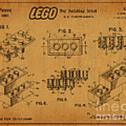1961 Lego Building Blocks Patent Art 5 Poster
