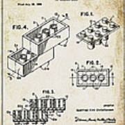 1961 Lego Patent Poster
