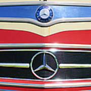 1961 Mercedes-benz Type O321h Bus Grille Emblem Poster