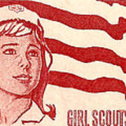 1962 Girl Scouts Of America Postage Stamp Poster