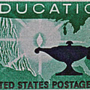 1962 Higher Education Stamp Poster