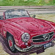 1962 Mercedes Benz 190sl Poster