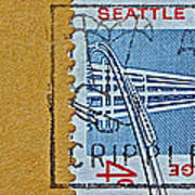 1962 Seattle World's Fair Stamp Poster