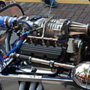 1962 V6 Lotus Engine Poster